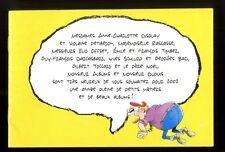 CARTES DE VOEUX DUPUIS 2002   BERCOVICI  ZIDROU 12 pages de dessins inédits