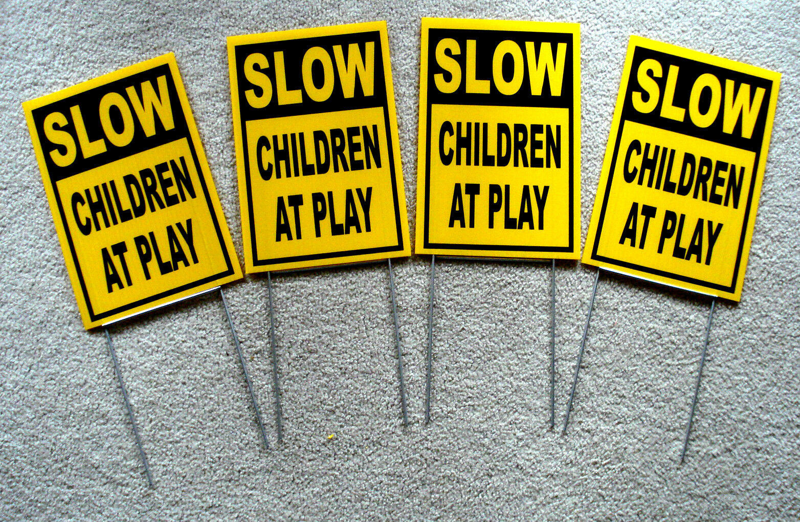 CHILDREN AT PLAY  Coroplast SIGN with stake 8x12 SLOW