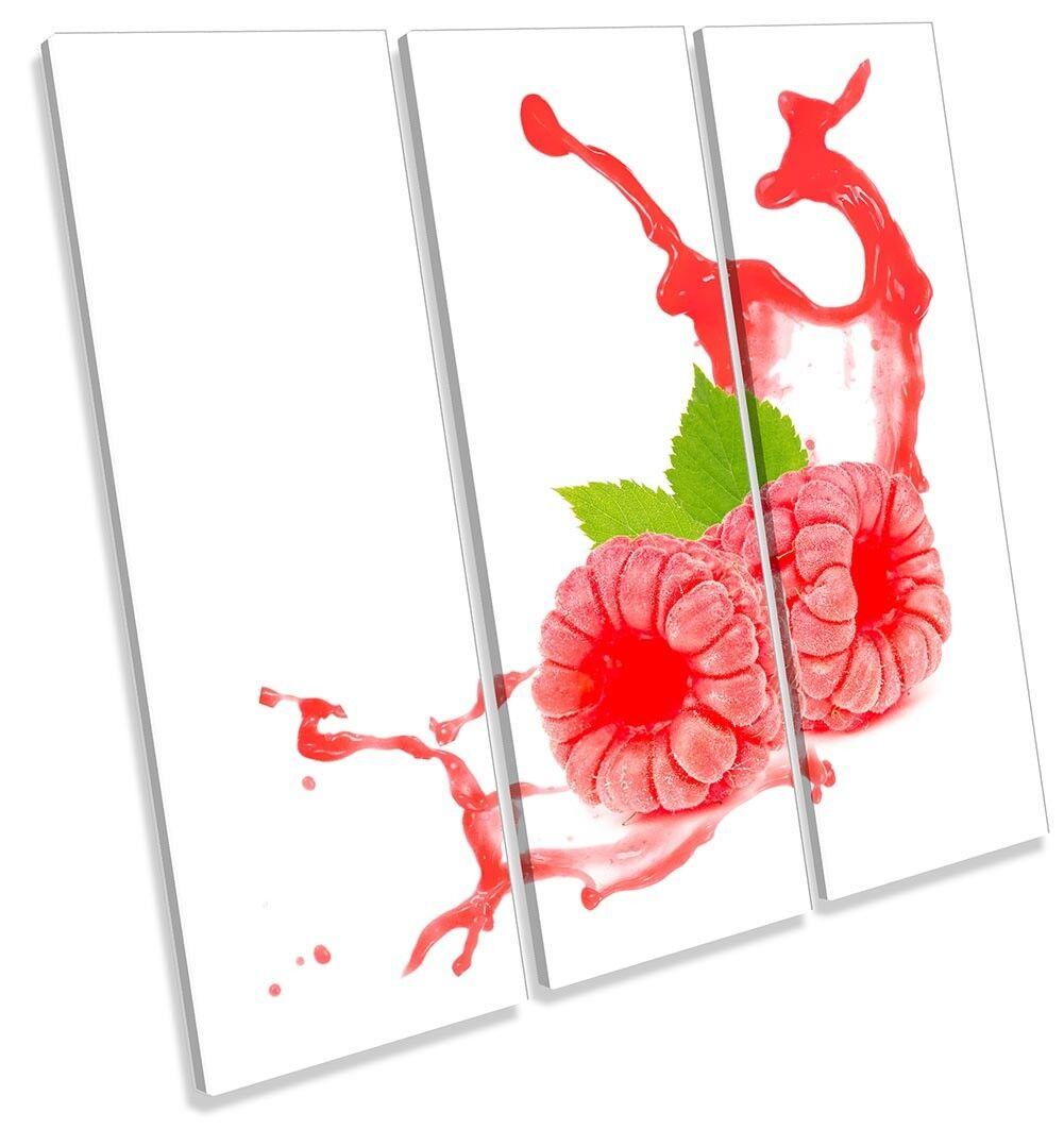 Rosso Lampone Splash cucina incorniciato Treble stampa art. a muro