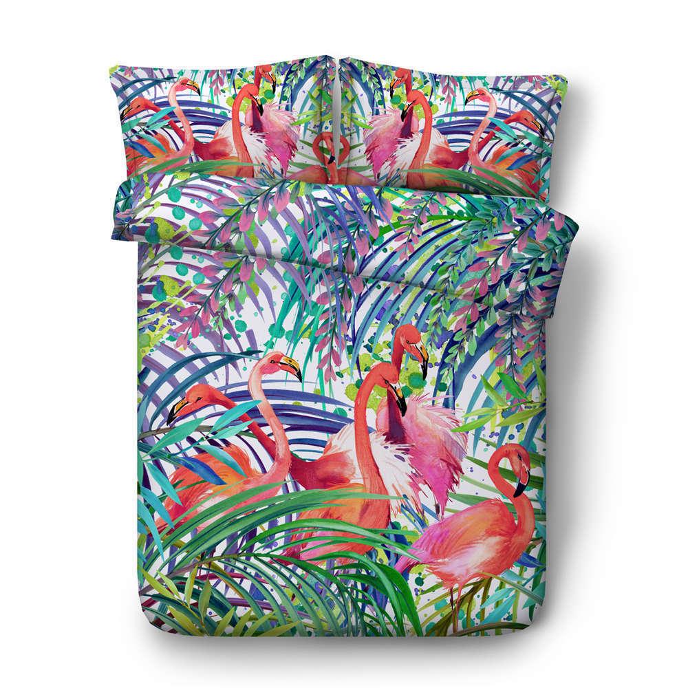 color Leaves Shape 3D Printing Duvet Quilt Doona Covers Pillow Case Bedding Sets