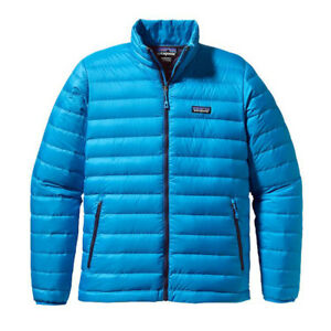 Patagonia Mens Down Sweater Jacket Andreas Big Sur Blue Size