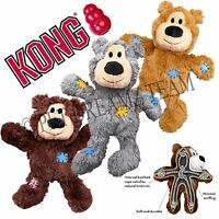 KONG WILD KNOTS BEAR – PLUSH SQUEAKY DOG PUPPY TOY - KNOTTED ROPE FOR STRENGTH