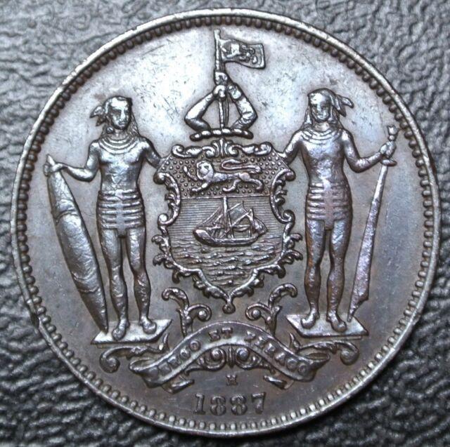 1887 H NORTH BORNEO  Malaysia - 1 CENT - BRONZE - British North Borneo Co - Nice