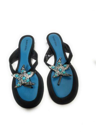 Ramon Tenza Blue Starfish Sandals Size 11 B