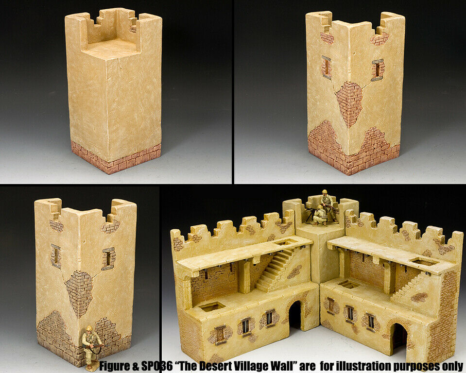 King & Country Diorama SP108X Roman Mittelalterlich Ecke Wand Tower MIB