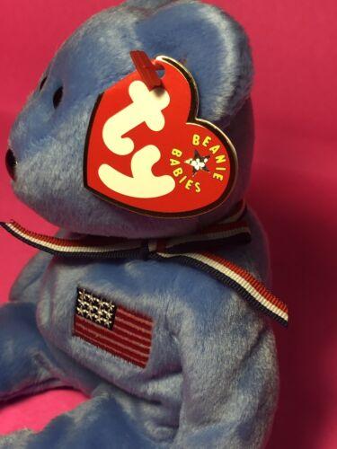 the Bear Ty Beanie Baby AMERICA Blue Version
