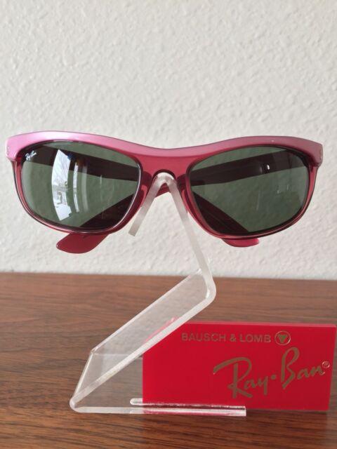 e8ddc2aa614 Vintage Ray Ban Bausch and Lomb Pink Burgundy Balorama Wrap Sunglasses USA