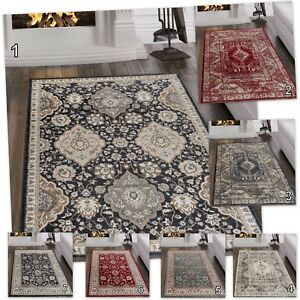 Image Is Loading New Elegant Clic Traditional Rugs Red White Blue