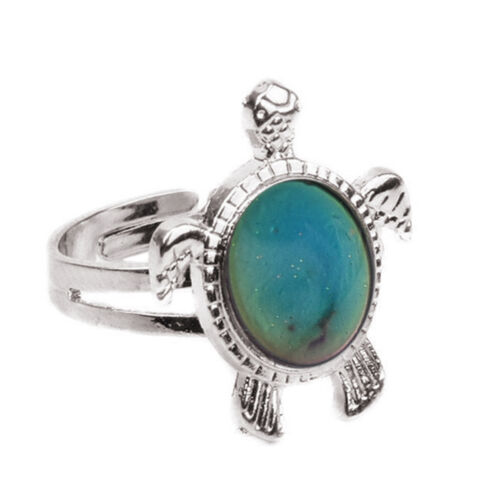 Turtle Mermaid Moon Color Change Ring Mood Emotion Discoloration Adjustable YL