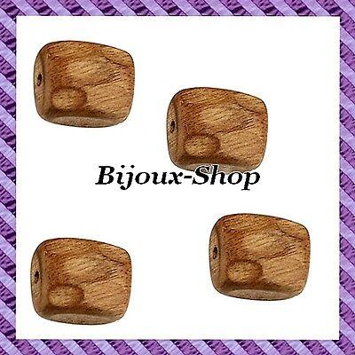 10 Perles bois  courber noir 40 mm
