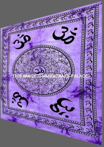 OM Aum YOGA Indian CHAKRA Tie Dye HIPPIE India Wall Hanging TAPESTRY YOGA MAT