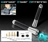 Silver 3 Inch Real Carbon Fiber Antenna Stubby Billet Aluminum For Car & Truck