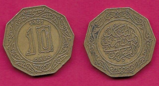 FREE SHIP 1981 ALGERIA 10 DINARS BIN #MMM Hard to Find Coin