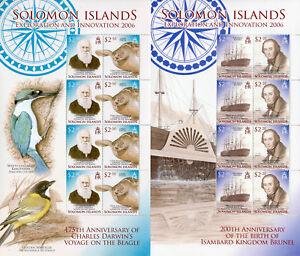 Salomon-ISL-2006-neuf-sans-charniere-exploration-Innovation-Darwin-Brunel-Halley-4x-8-V-MS-timbres