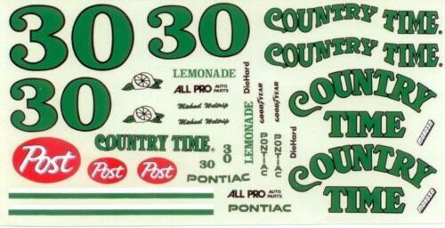 JNJ #30 Country Time Pontiac Michael Waltrip Nascar decal