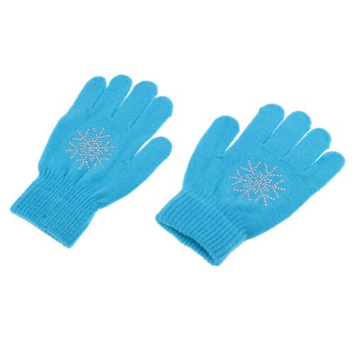 2x Kinder Junior Strickhandschuhe Mitten Blue Pink Magic Stretchy
