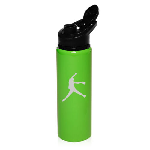 25oz Aluminum Sports Water Bottle Travel Canteen Female Softball Pitcher