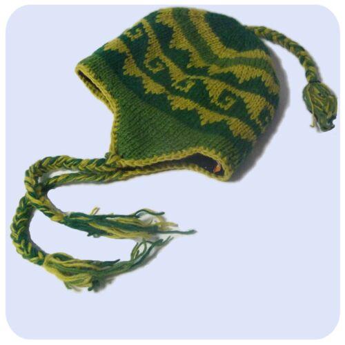 Strickmütze Bindemütze Wollmütze Winter Mütze Wolle weichem Fleece Innenfutter