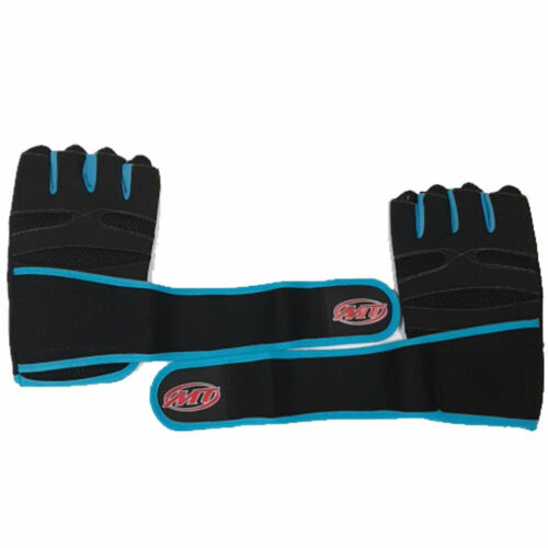 MT Men Weightlifting Gloves With Wrist Wrap Weight Workout Gym//Training//Fitness