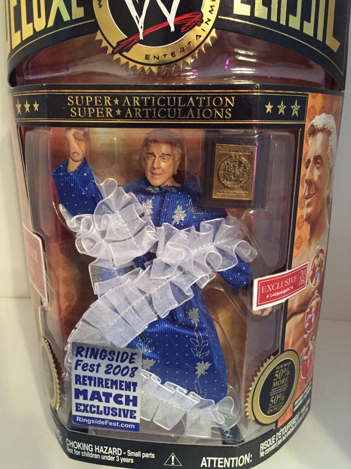 WWE Ric Flair wrestling figure Deluxe Classic Superstars Toy HOF WCW NWA WWF TNA