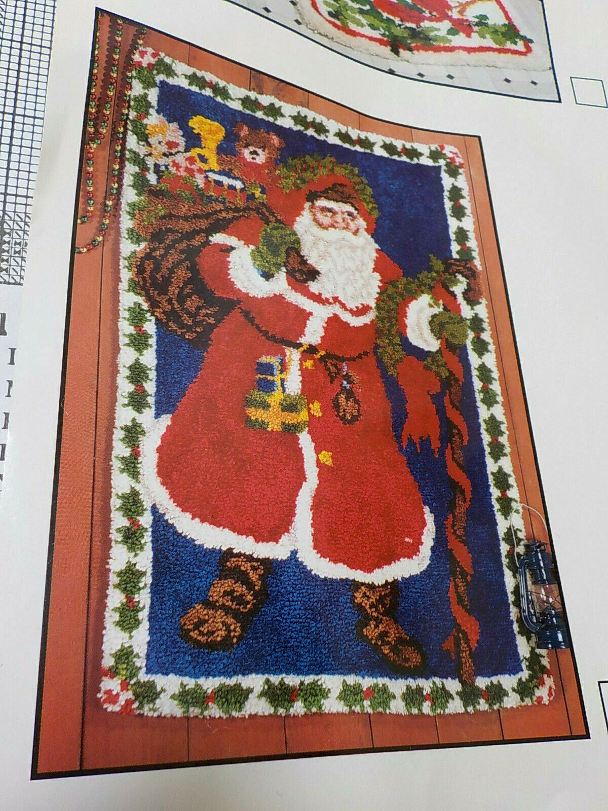 1 Pack Chrismas Model Latch Hook Kits Rug Christmas Socks 20 by 16.5 Inch Santa Claus