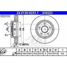 24.0111-0130.1 pour FIAT 128 va 128 /_ 2x Unités antithrombine Disque De Frein Essieu Avant