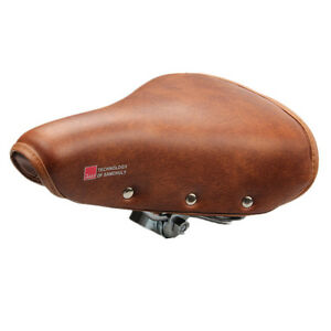 Vintage Retro Bicycle Bike Saddle Cycling PU Leather Spring Comfortable Seat
