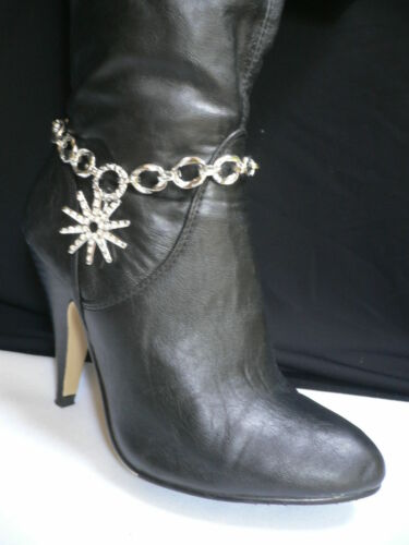Women Silver Metal Bracelet Boot Chain Texas Lone Star Western Texas Shoe Charm