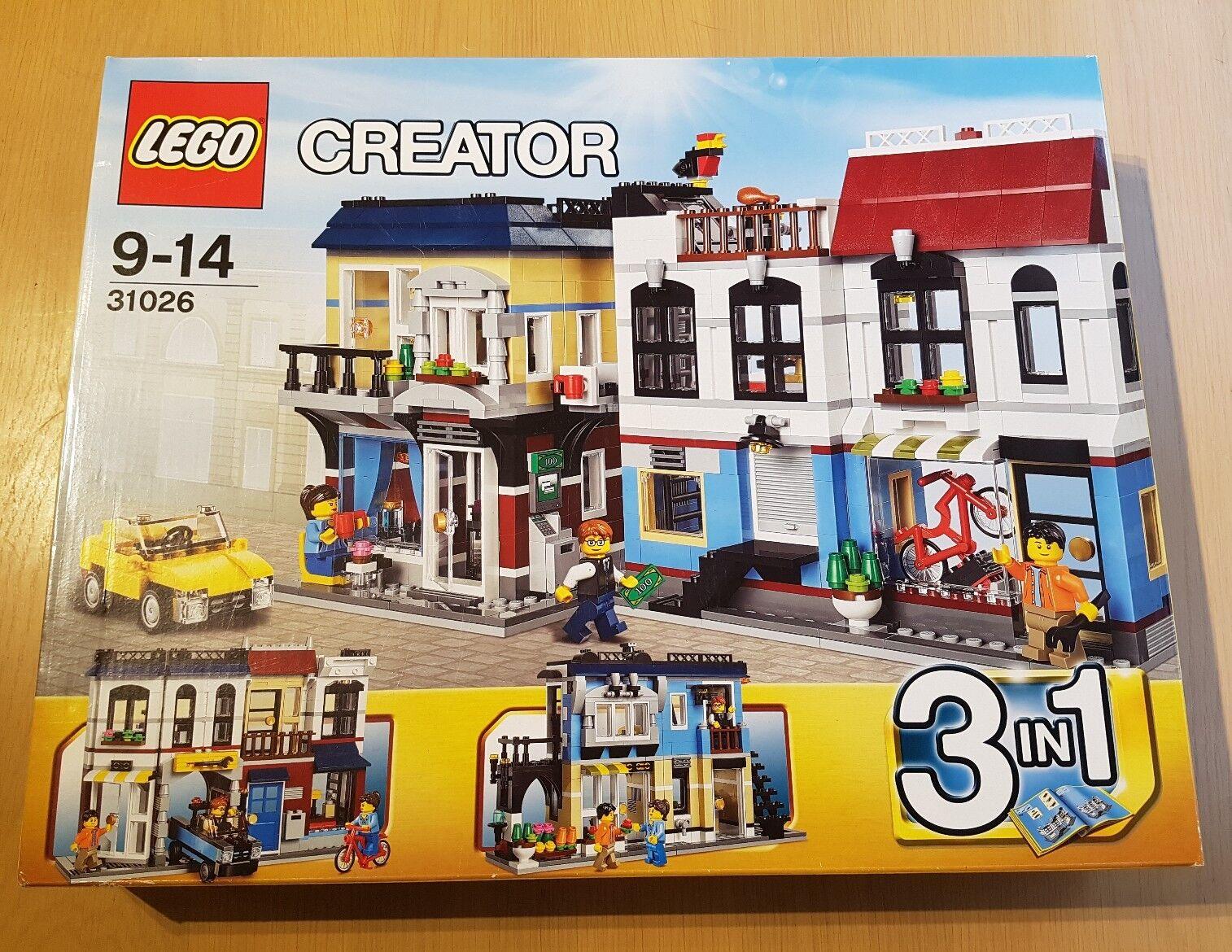 LEGO 31026 Creator Bike Shop & Cafe 3 in 1 NEW FACTORY SEALED BOX Retirot Set