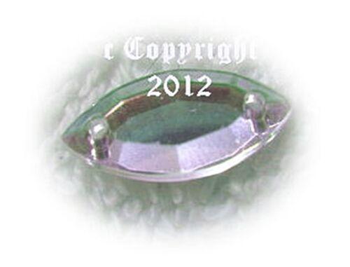 Pedrería aufnähsteine spitz konkarve aprox 7 x 15 mm a partir de Crystal irisierend