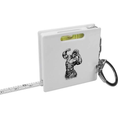 /'Bodybuilder/' Keyring Tape Measure KM00017205 Spirit Level Tool