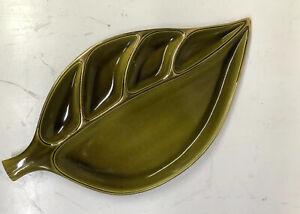 Green Metallic Leaf Dish