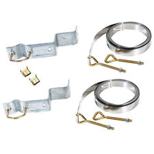 Antenna Mast Chimney Mount Galvanized 10' FT Straps Complete Kit with Hardware