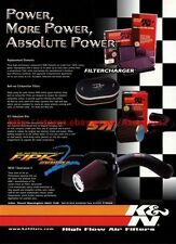K&N High Flow Air Filters 2001 Magazine Advert #8003