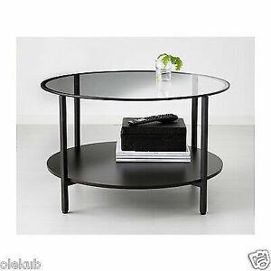 Ikea VittsjÖ Coffee Table Metal Frame Modern Black Brown Vittsjo 802 133 09