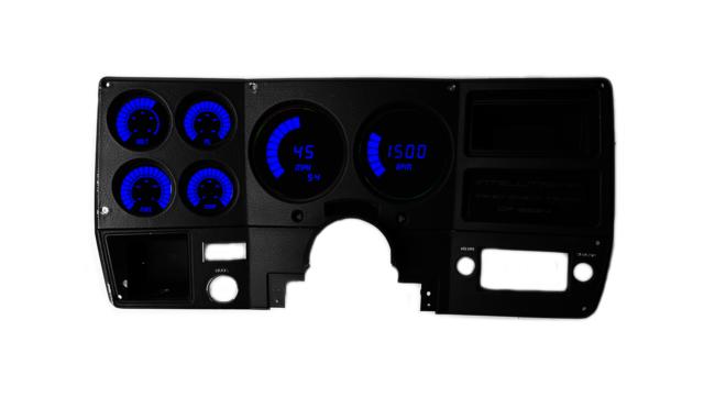 Blue Intellitronix LED Digital Boost Gauge in Chrome Bezel