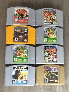 Nintendo 64 Games LOT (8) Bundle Authentic Original N64 Games