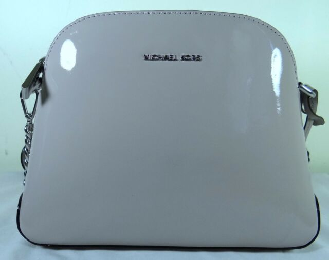 45ade5cb68f6 Michael Kors Patent Leather Mercer Medium Dome Messenger Crossbody ...
