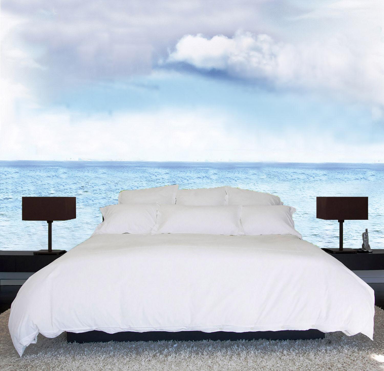 3D Weiße Wolken Ozean 9 Tapete Wandgemälde Tapete Tapeten Bild Familie DE Summer | Schön In Der Farbe  | Schönes Design  | Deutschland Shop