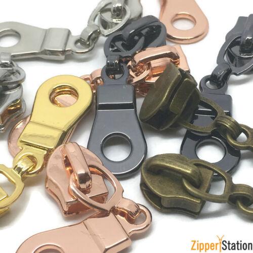 Sliders Pulls Zipper repair for Nylon zippers Donut Pull for Nylon Coil Zip
