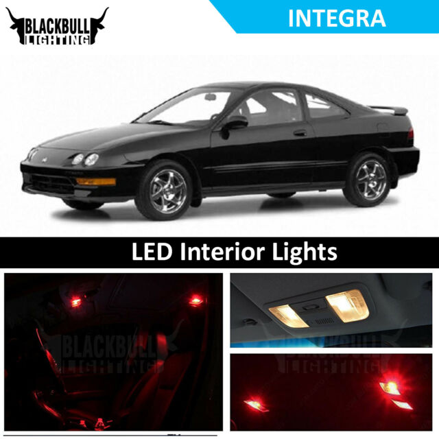 Red LED Interior Lights Package Replacement Kit For 1994