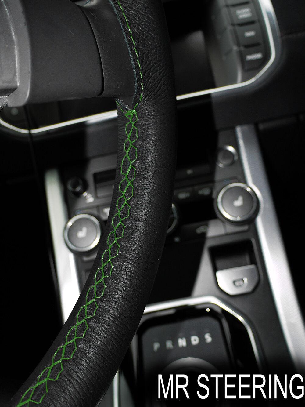 Noir Volant en Cuir Couverture Pour Smart Fortwo W450 Noir Double surpiqûres