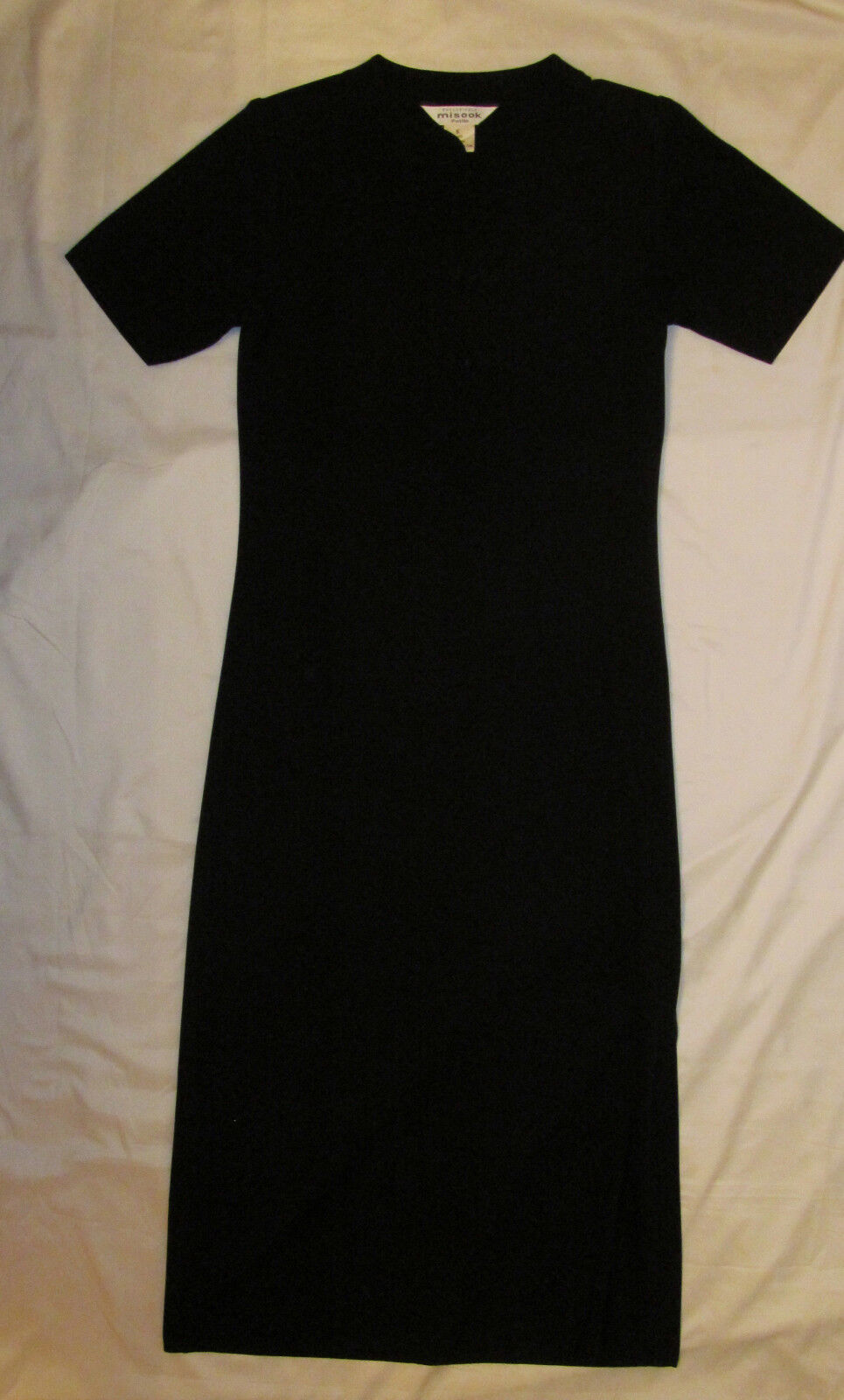 EXCLUSIVELY MISOOK  maxi long asian style side slit dress PETITE  S NWOT