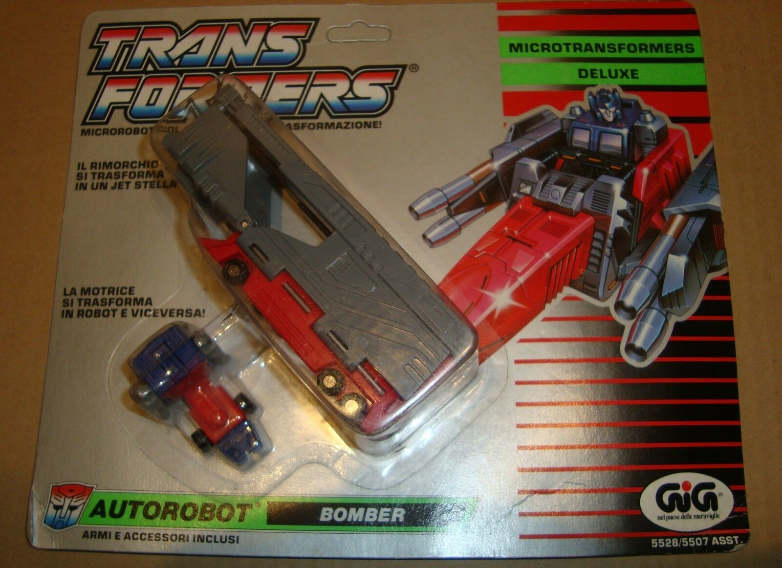 TRANSFORMERS MICROMASTER 5528 5507 DELUXE AUToroBOT BOMBER OVERLOAD HASBRO GIG