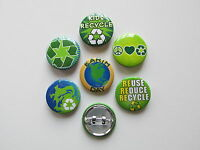 48 Earth Day Pins Mini Button Pins Free Sh Go Green Recycle Reuse April