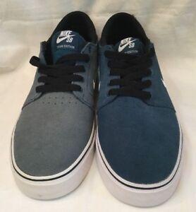 Détails sur Nike SB Zoom Team Edition bleu blanc en daim noir taille UK 7 Chaussure De Skate Neuf afficher le titre d'origine