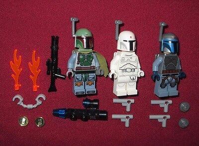 Lego Star Wars Minifigures Lot Boba Fettwhite Boba Fett Prototype