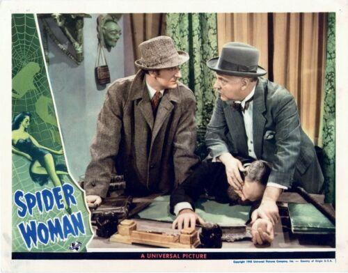 LOBBY CARD PHOTO  8X10 3 BASIL RATHBONE SHERLOCK HOLMES IN SPIDER WOMAN