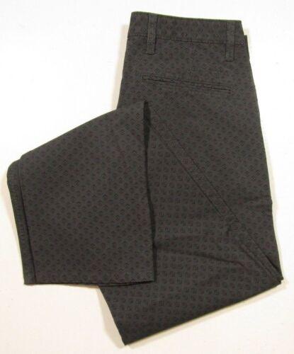 Dockers Men/'s Dark Gray Geometric Printed Khaki Slim Tapered Fit Pants
