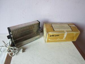 ancien grille pain/toaster moulinex en métal vintage.